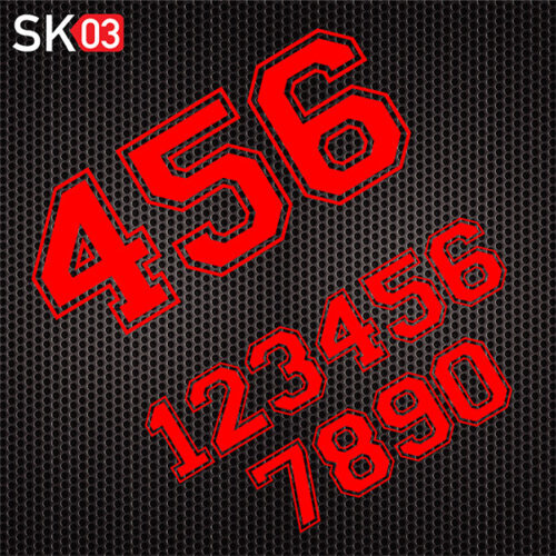 Auto Startnummern Aufkleber Set in neonrot