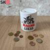 Beduckte Keramik Spardose als Geschenk für Motorrad Fahrer