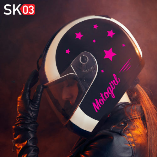 Helm Dekor Aufkleber in neon Farben