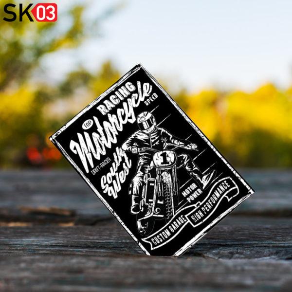 Motorrad Postkarte mit Bikermotiv zum Versenden per Post