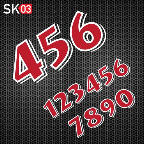 Zweifarbige Motorrad Startnummer für Rennstrecke