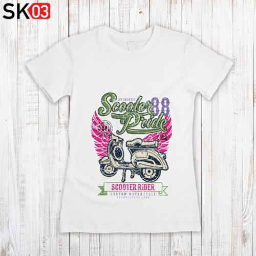 Bedruckte Motorrad T-Shirts für Damen