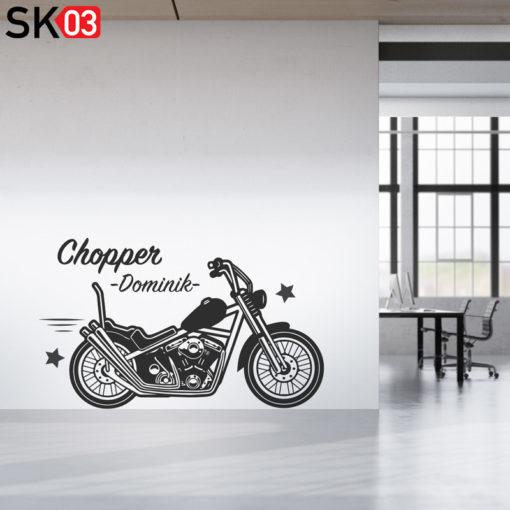 Motorrad Wandbild mit Name des Motorradfahrers