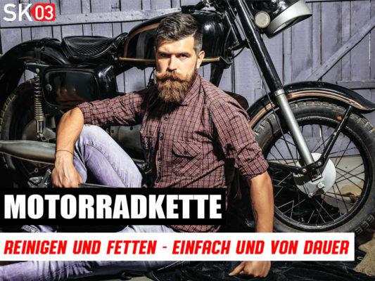 Motorradkette mit HKS extrem reinigen und fetten