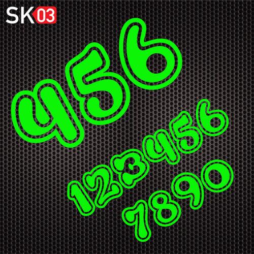 MX Motorrad Startnummern Set in neongrün