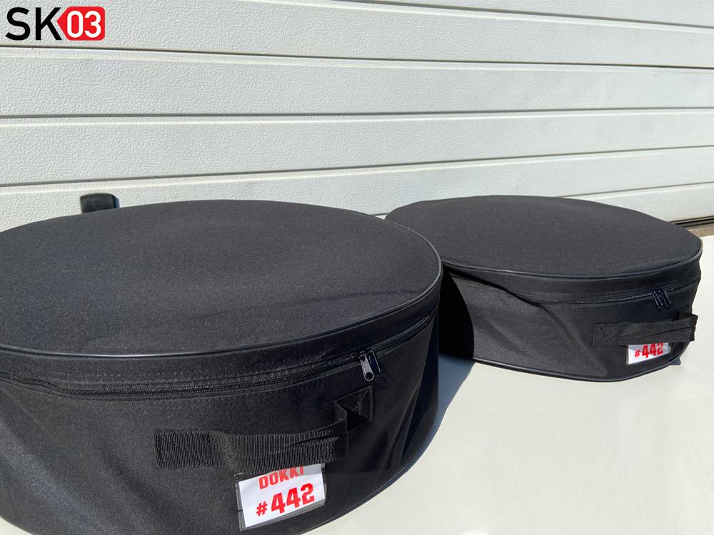 Rennstrecken Rädertaschen für den Transport von Motorrad Felgen
