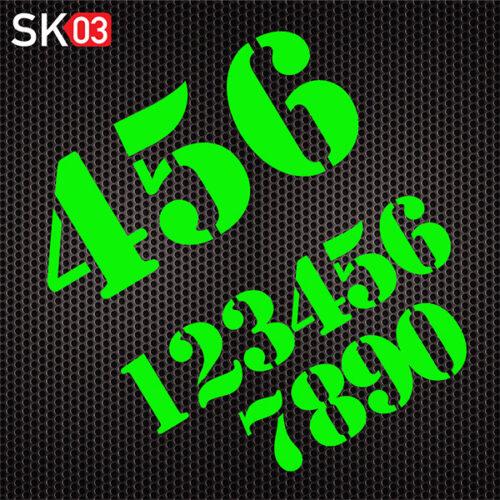 Retro Startnummer als Aufkleber für Auto und Motorrad in neongrün