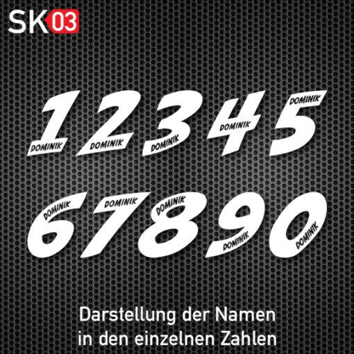Startnummer für Auto und Motorrad mit Logo oder Teamname