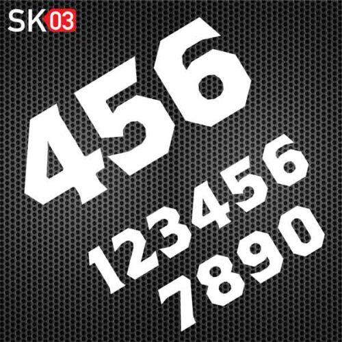 Motorrad Startnummer für den Rennsport konfigurieren