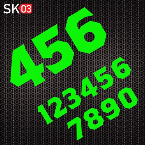 Motorsport Startnummer für den Rennsport in neongrün