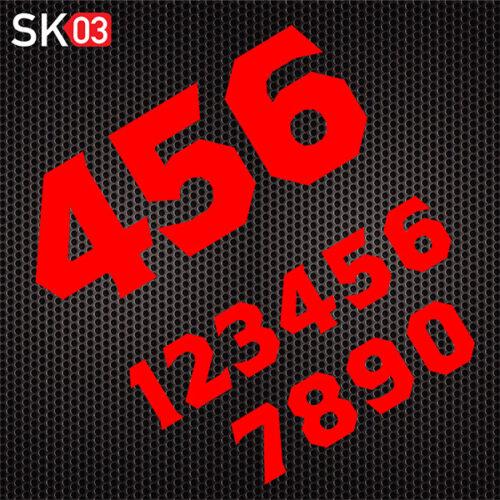 Motorsport Startnummer für den Rennsport in neonrot