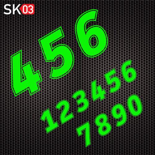 Supermoto Motorrad Startnummer in neongrün selber gestalten