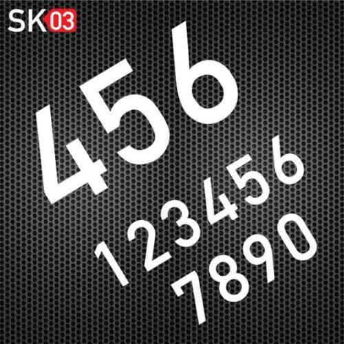 Startnummern Enduro für das Gelände Motorrad