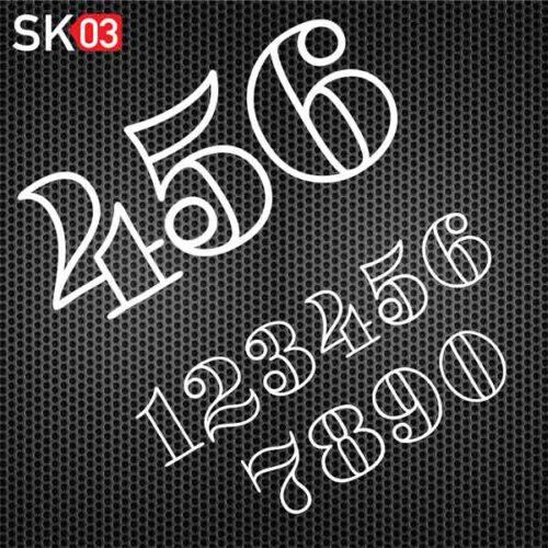 Startnummern Konfigurator für Motorrad Zahlen