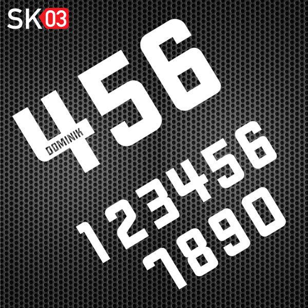 Motorrad Startnummern mit einem zusätzlichen Namen gestalten
