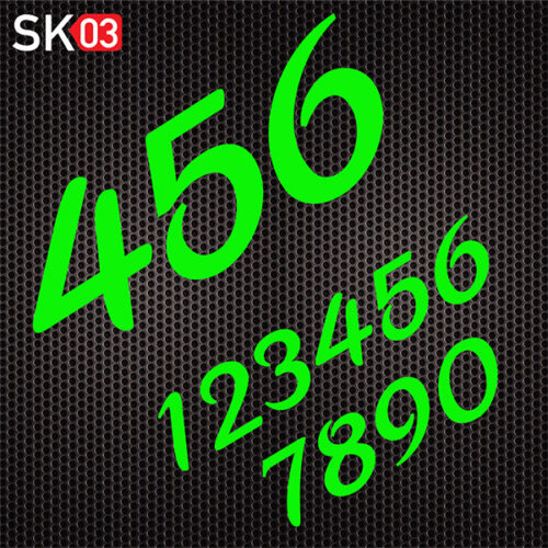 Startnummern für Motocross Motorräder in neongrün