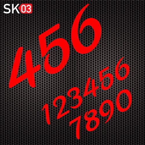 Startnummern für Motocross Motorräder in neonrot