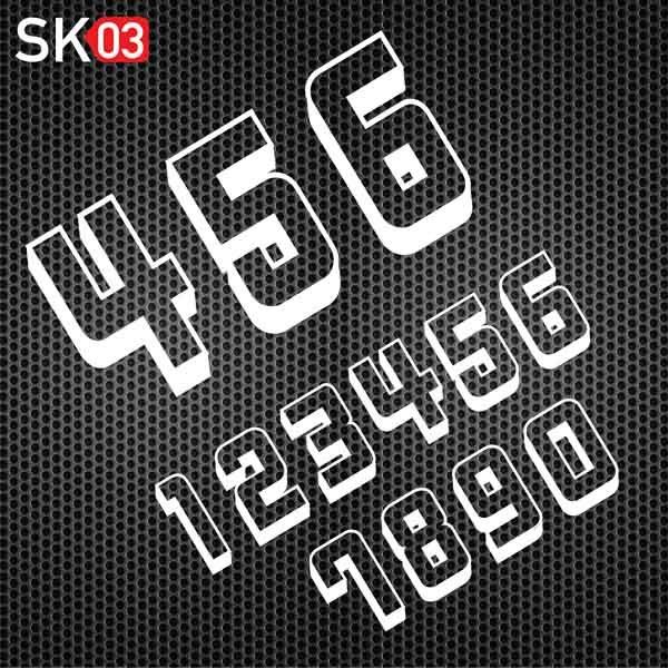Motorrad Startnummern für den Rennsport