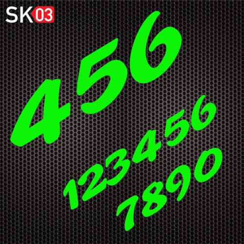 Supermoto Startnummern Set in neongrün