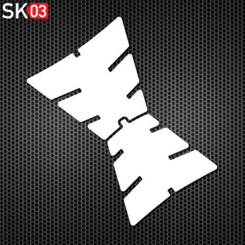 Motorrad Tankpad zweiteilig für variables Verkleben