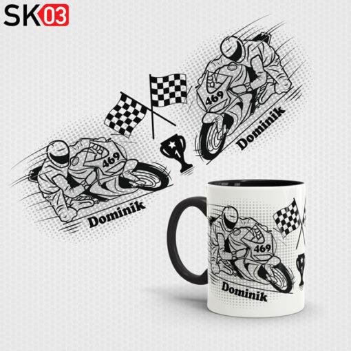 Bedruckte Motorrad Tasse mit Name als Geschenkidee für Biker